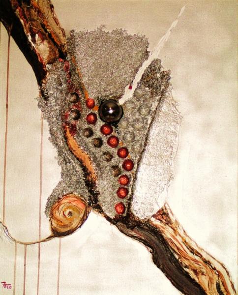 TABLEAU PEINTURE art acrylique abstrait moderne Abstrait  - oeufs