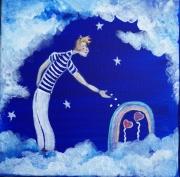 tableau personnages petit marin du ciel toile onirique et po faire pousser l039 etoile marin coe : Faire pousser l'amour