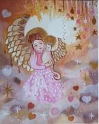 tableau personnages ange feerie univer tableau pour enfant : Bulle d'Amour