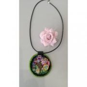 bijoux animaux collier confection broderies ,a l ,a les toiles d ys collier de creation : Collier Lapin d'Alice