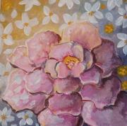 tableau fleurs toile tableau fleurs bal de fleurs lumiere romantique : le bal des anémones
