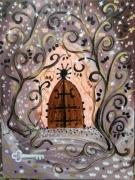 tableau autres feerique toile enfant univers de l en porte magique : La porte des Lutins