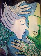 tableau personnages flammes jumelles lien amour elle et lui : FOREVER