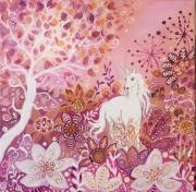 tableau animaux licorne animal feer toile feerique tabl 40 x 40 cm tableau univers feerique de : Les jardins enchantés