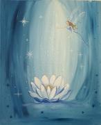 tableau paysages toile feerique univ douceurs reves amour eau eaux dor toile tableau feer : Les eaux dormantes