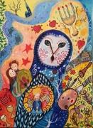 dessin personnages chouette univers de univers de marc chag les amoureux dans le feerie bonheur ima : Les Amoureux de Chagall