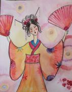 dessin personnages aquarelle figurine danse chinoise even colore aquarelle ,p enfants : La danse de Yoko (soldé)