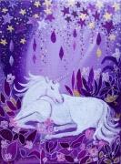 tableau animaux toile feerique onirique tableau d enfan acrylique : Puie d'étoiles vendu