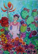 dessin personnages inspiration frida frida kalho fleurs muse frida : Frida et les fleurs