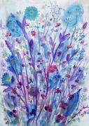 tableau fleurs fleurs herbiers petites fleurs aquarelle : Les petites fleurs des champs