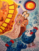 dessin personnages inspiration chagall amour pour bella fl personnage : Ton coeur dans le mien Bella