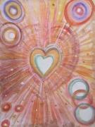 dessin autres coeur cosmique amou astral paix coeur message d amour encadree : Coeur cosmique 1