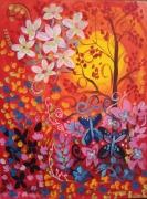 dessin paysages canson moulin du roy paysage vendu encadr folkart paysage pa jardin fleurs : Le jardin de lumière