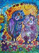 dessin animaux chouettes amour tendresse monde animal : Le monde est fait d'amour