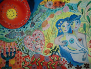 dessin personnages amour amoureux inspiration chagall vert : My Lover Boy