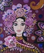 tableau personnages visage feminin jaipur inde : JAIPUR