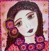 tableau personnages toile personnage petite fille tzigane : Esmeralda