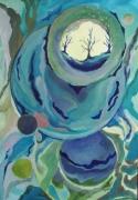 dessin abstrait planeteetoile abstrait canson peinture : Viens sur ma planète