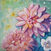 tableau fleurs fleurs printemps tableau joyeux naissance des fleurs acrylique et vernis : Printemps