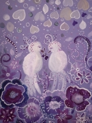 tableau animaux pluie de coeurs pluie damour poesie petits oisea : Pluie d'amour