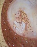 tableau personnages etoile chemin de vi visage feminin etoile filante : Croire en son étoile
