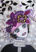 tableau personnages cyber doll portrait visage blanc : Rosa MOON