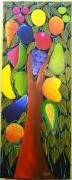 tableau fruits tableau art naif haiti fruits peinture art naif : Arbre à Fruits