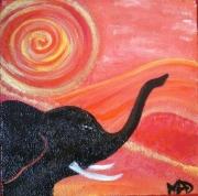 tableau animaux elephant animaux decoration cadeau : L'Elephant