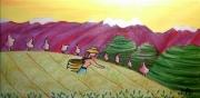 tableau paysages orient the paysage : La Cueilleuse de thé
