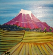 tableau paysages fujiyama paysage : Mon petit Fujiyama