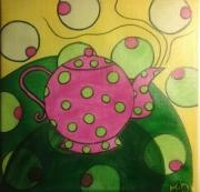 tableau autres the theiere decoration : Bubble tea