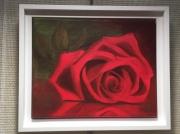 tableau fleurs rose fleur rouge : Rouge passion