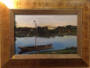 tableau paysages loire fleuve barque : Sur la Loire