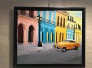 tableau villes cuba havane voiture couleur : Habana