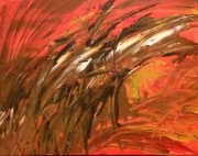 tableau abstrait : Aigle carmin