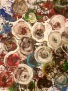 tableau abstrait : Bouquet de roses