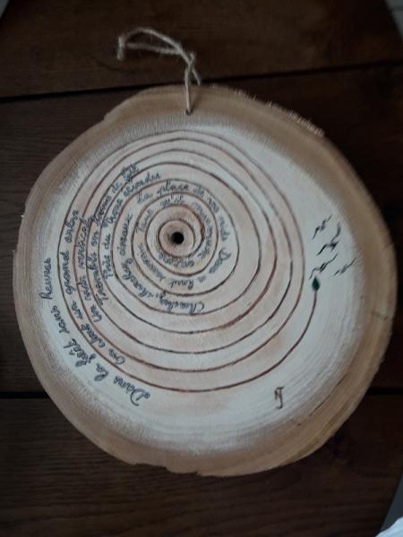 TABLEAU PEINTURE bois nature arbre poésie Abstrait Acrylique  - l'âme des arbres