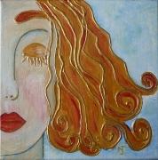 tableau personnages visage or portrait chevelure : Boucle d'or
