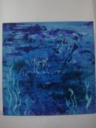 tableau abstrait meduses mer ocean fonds marins : Ballet aquatique