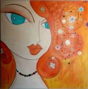 tableau autres visage portrait abstrait esmeralda : ESMERALDA