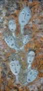 tableau abstrait tete visage personnage abstrait : Nous, vous, ils
