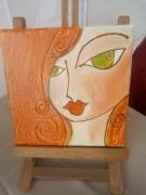tableau personnages portrait visage chevelure : Zora la rousse