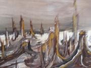 """tableau paysages arbre foret deforestation nature : """"Quand les arbres n'auront plus d'ailes"""""""