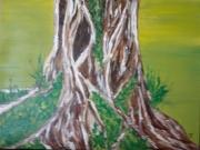 """tableau abstrait deforestation arbre nature foret : deforestation """"Quand la nature reprend ses droits"""""""