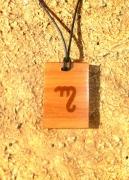 bijoux marquetrie incrustation rune : Alphabet théban