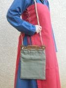 bois marqueterie chene lin sac : Sac viking