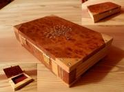 bois marqueterie autres coffret livre etain marqueterie : coffret livre