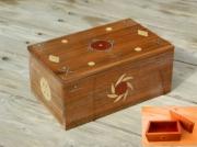 bois marqueterie autres amerindien marqueterie etain : coffret deco amérindien