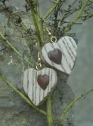 bijoux autres galet chene coeur : coeur de chêne