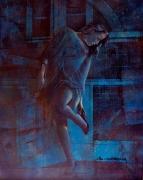 tableau personnages bleu sensuelle cuisine claire : Claire de Lune